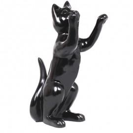 Statue en résine CHAT noir - 55 cm