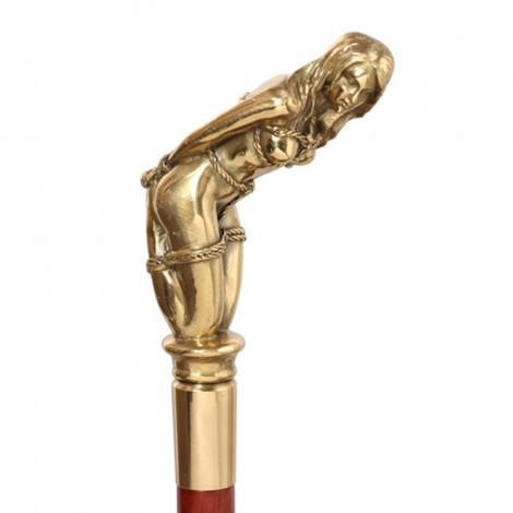 CANNE de marche de luxe statue érotique femme nue prisioniére - 93.5 cm