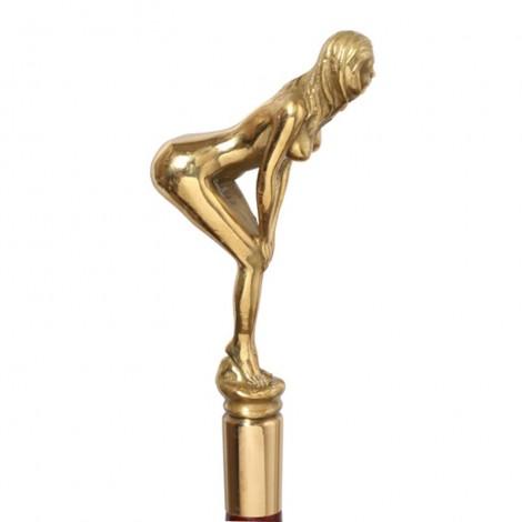 CANNE de marche de luxe statue érotique femme nue - 95 cm