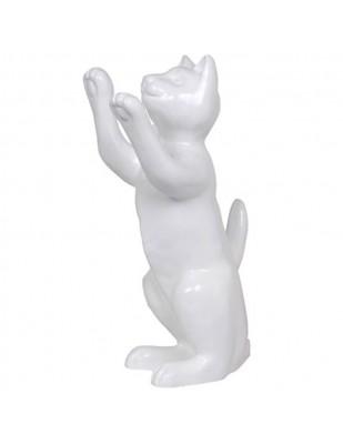 Statue en résine CHAT blanc - 55 cm