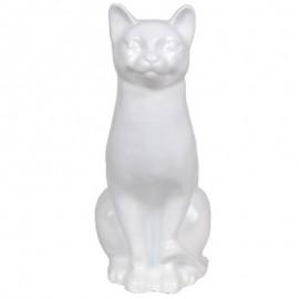 Statue en résine CHAT blanc - 40 cm